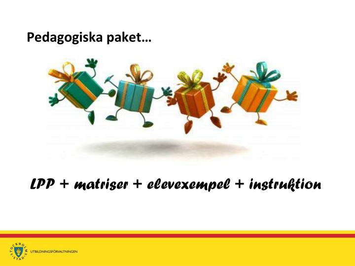 Pedagogiska paket…