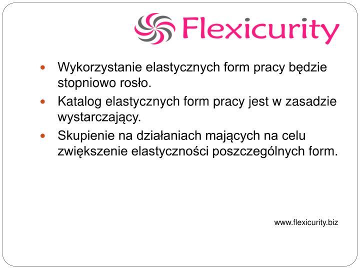 Wykorzystanie elastycznych form pracy będzie stopniowo