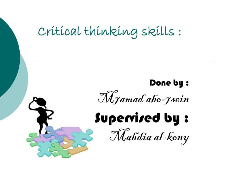 critical thinking ppt slides