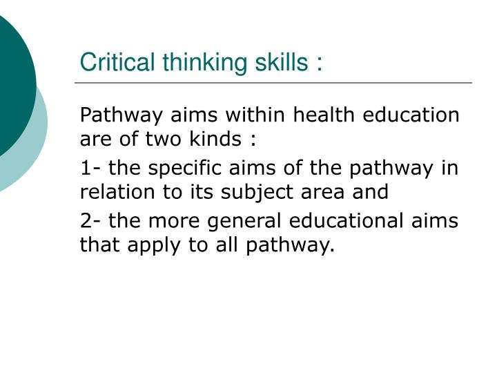 Paper on critical thinking in education ppt