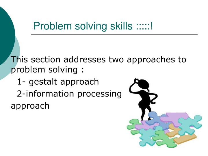 Critical thinking problem solving skills ppt