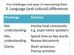 five challenges and ways of overcoming them 3 language and cultural differences