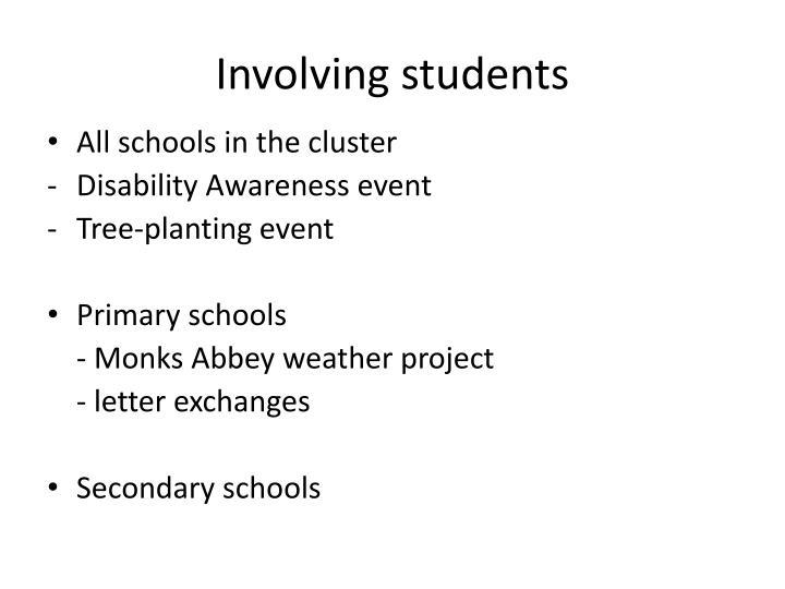 Involving students