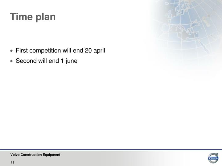 Time plan