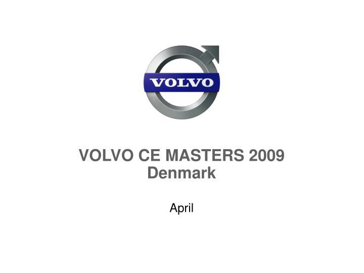 VOLVO CE MASTERS 2009