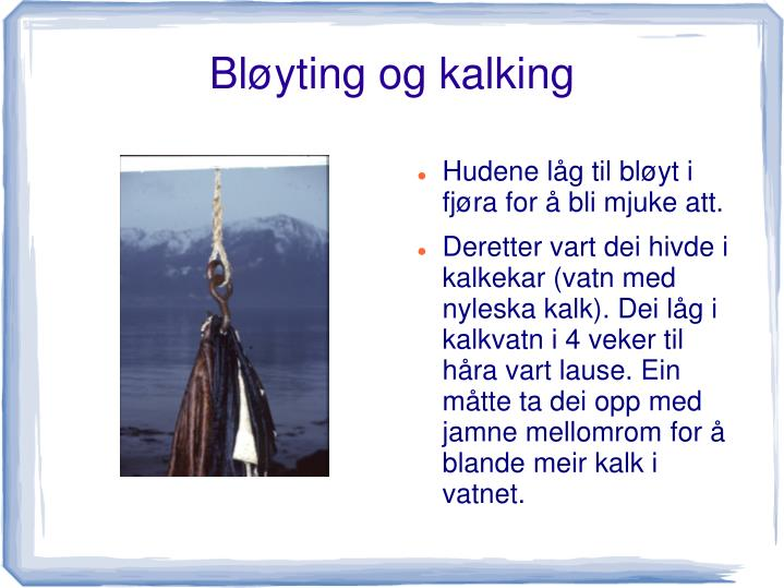Bløyting og kalking