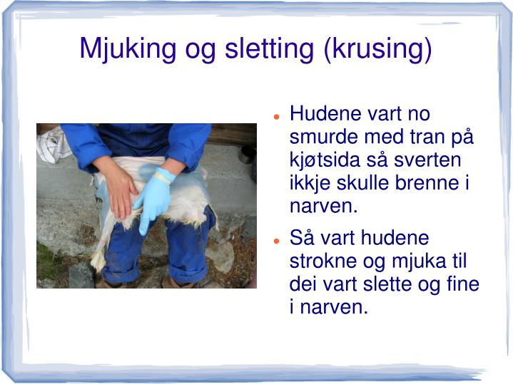 Mjuking og sletting (krusing)