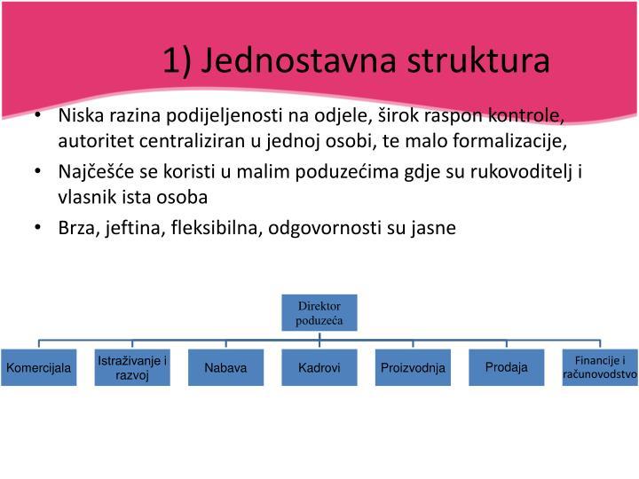 1) Jednostavna struktura