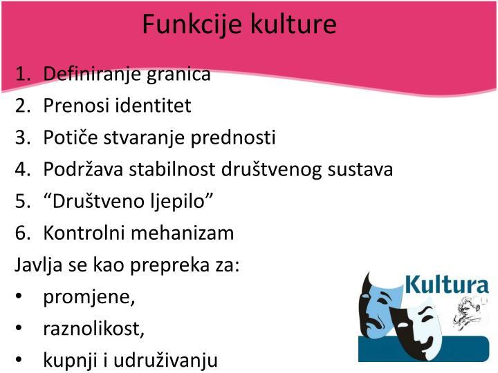 Funkcije kulture