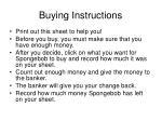 buying instructions