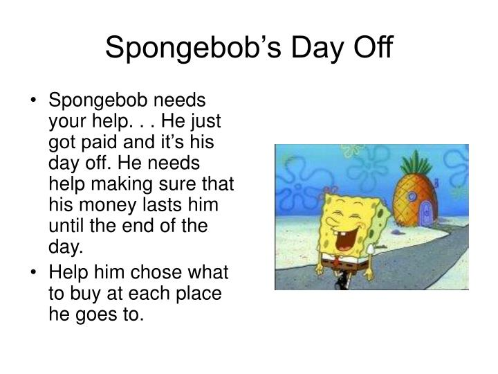 Spongebob's Day Off