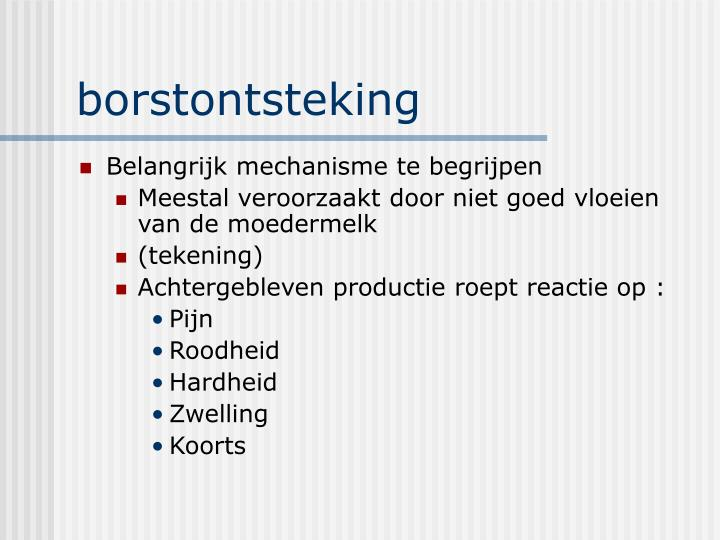 borstontsteking