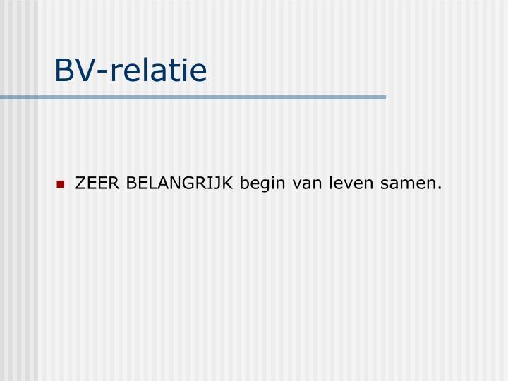 BV-relatie