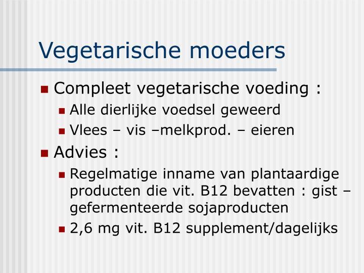 Vegetarische moeders