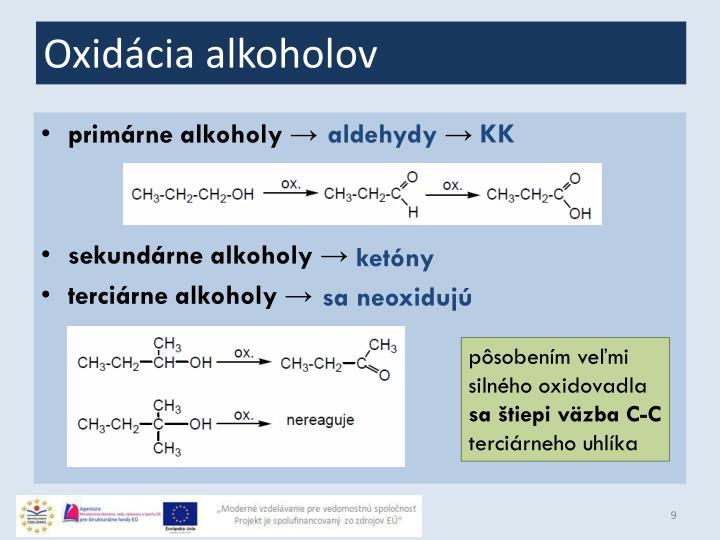 Oxidácia alkoholov