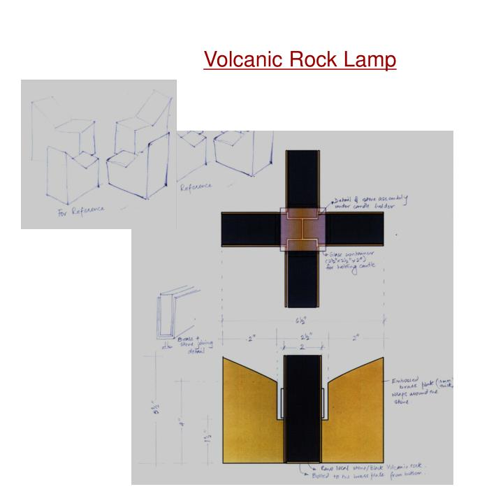 Volcanic Rock Lamp