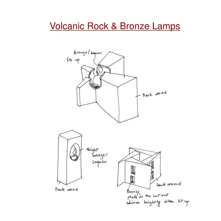 Volcanic Rock & Bronze Lamps