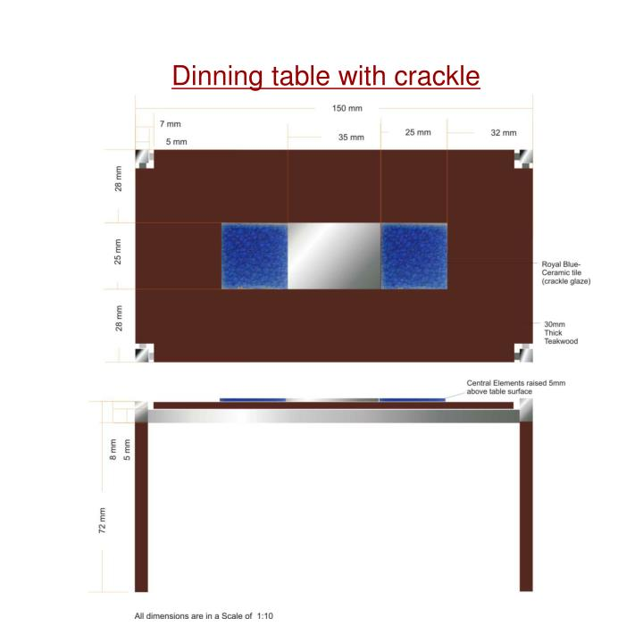 Dinning table with crackle tile