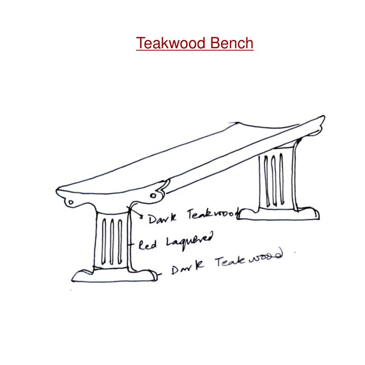 Teakwood Bench