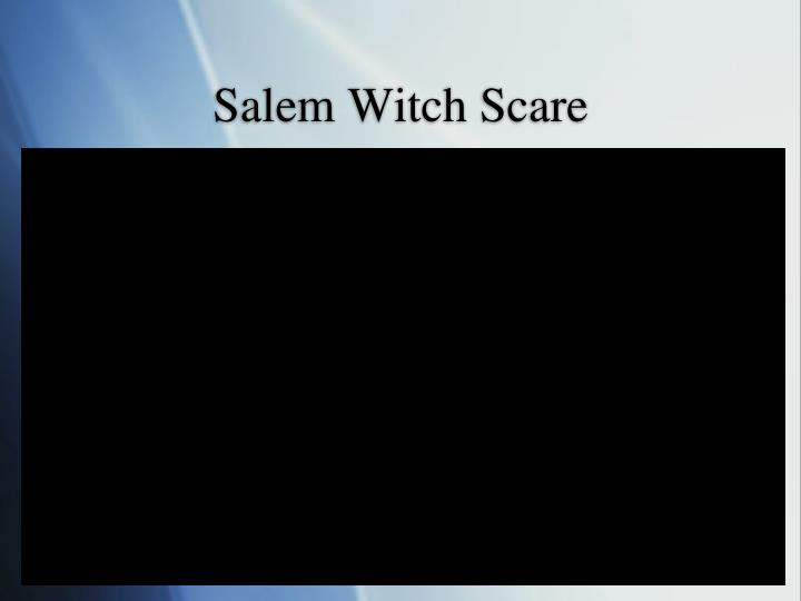 Salem Witch Scare