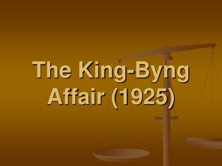 King byng affair essay