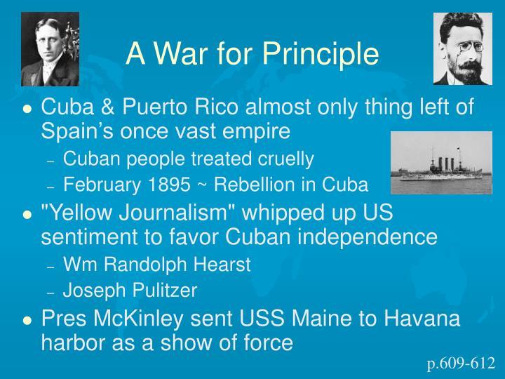 A War for Principle