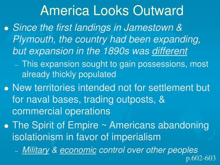 America Looks Outward
