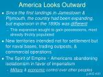 america looks outward