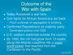 outcome of the war with spain