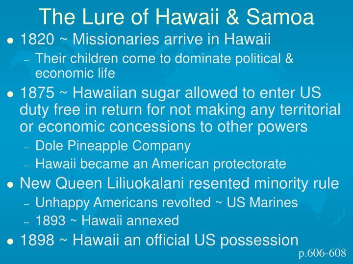 The Lure of Hawaii & Samoa