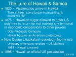 the lure of hawaii samoa
