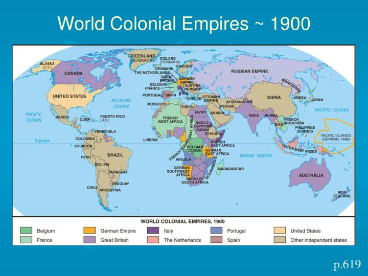 World Colonial Empires ~ 1900