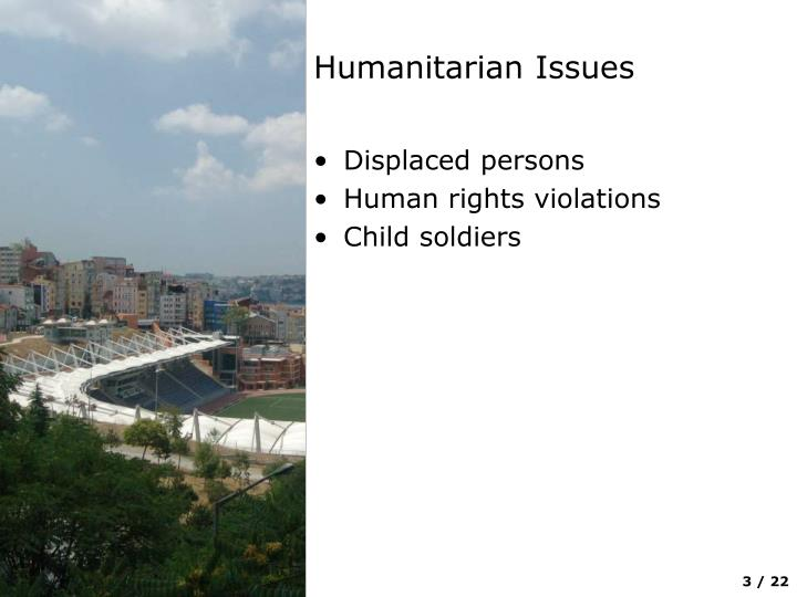 Humanitarian issues