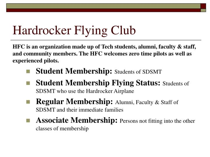 Hardrocker flying club