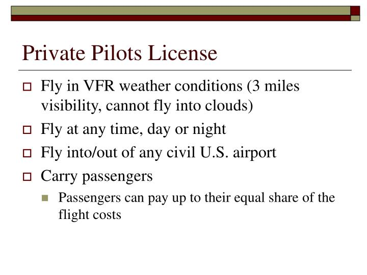 Private Pilots License