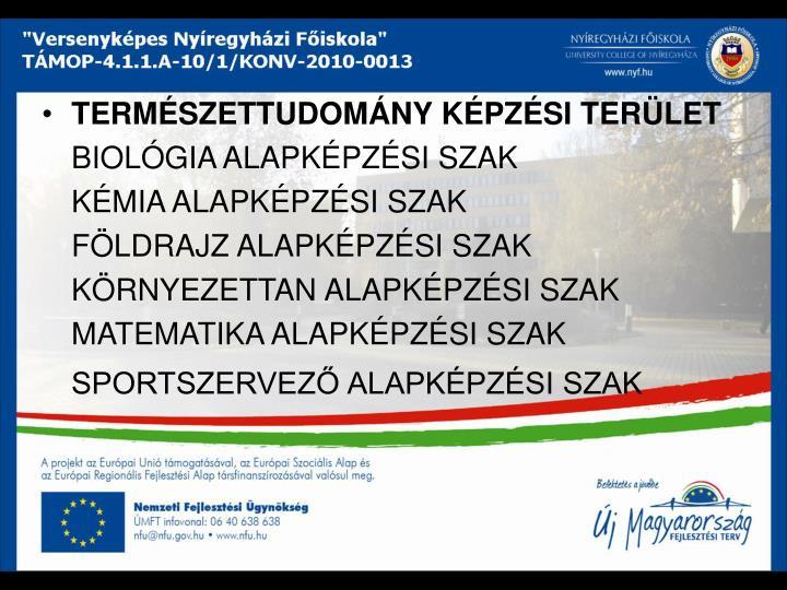 TERMSZETTUDOMNY KPZSI TERLET