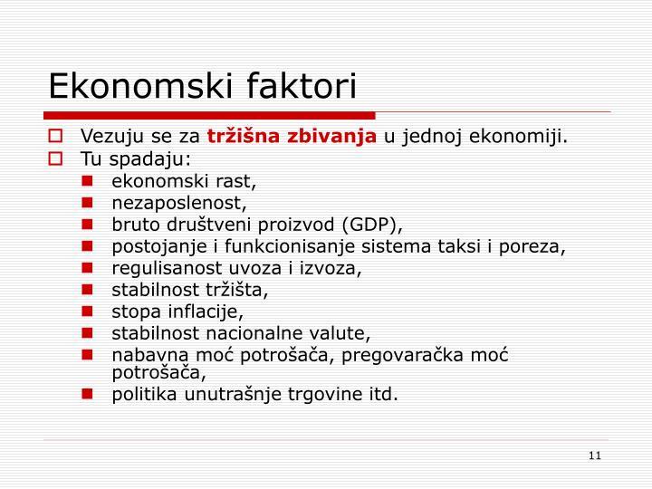 Ekonomski faktori