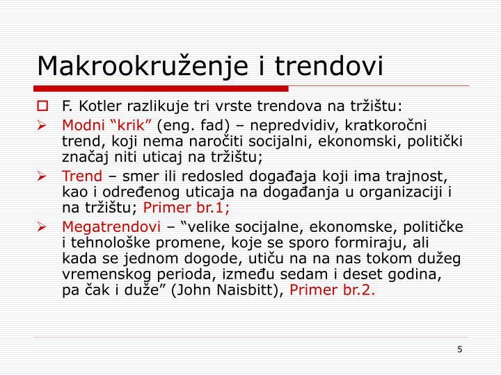 Makrookruženje i trendovi