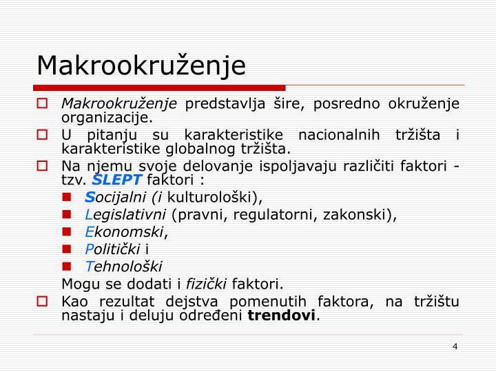 Makrookruženje