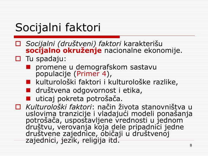 Socijalni faktori