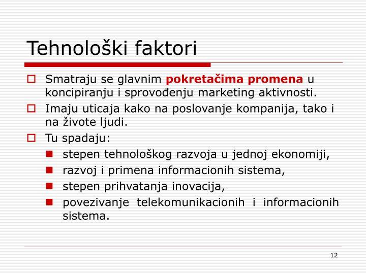 Tehnološki faktori