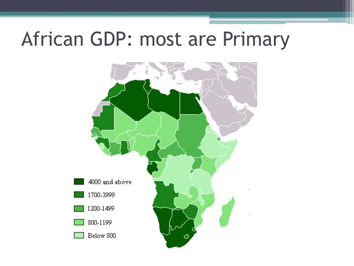 African GDP: most are Primary