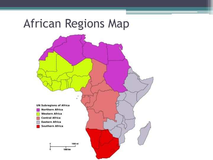 African Regions Map