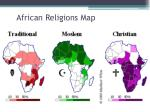 african religions map