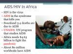 aids hiv in africa
