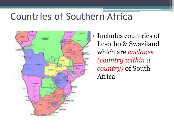 Countries of Southern Africa