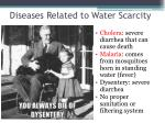 diseases related to water scarcity