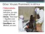 other viruses prominent in africa
