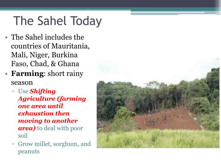 The Sahel Today