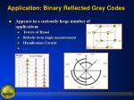 application binary reflected gray codes1